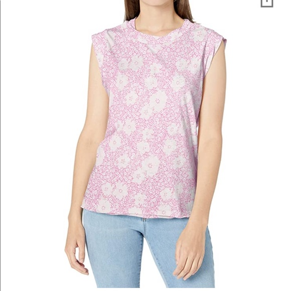 NWT Sperry Floral Oversized Sleeveless Tee